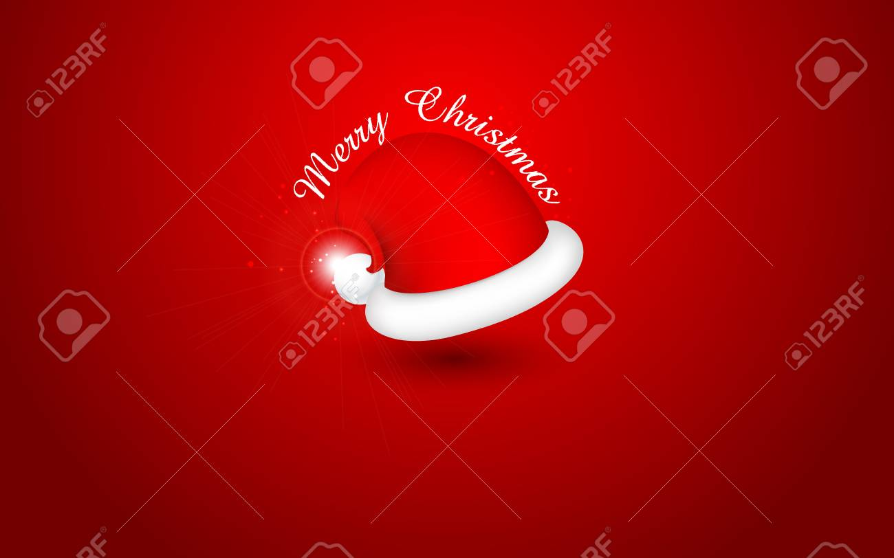 illustration of Santa Cap for Merry Christmas and Happy New Year Stock Vector - 17062378