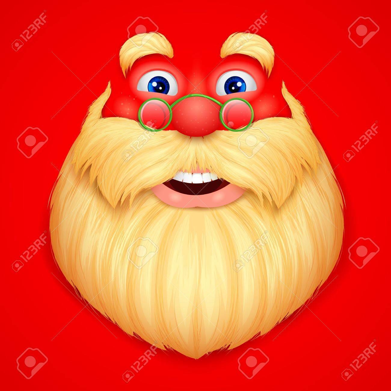 illustration of face Santa Claus singing ho ho ho wishing Merry Christmas Stock Vector - 17062236