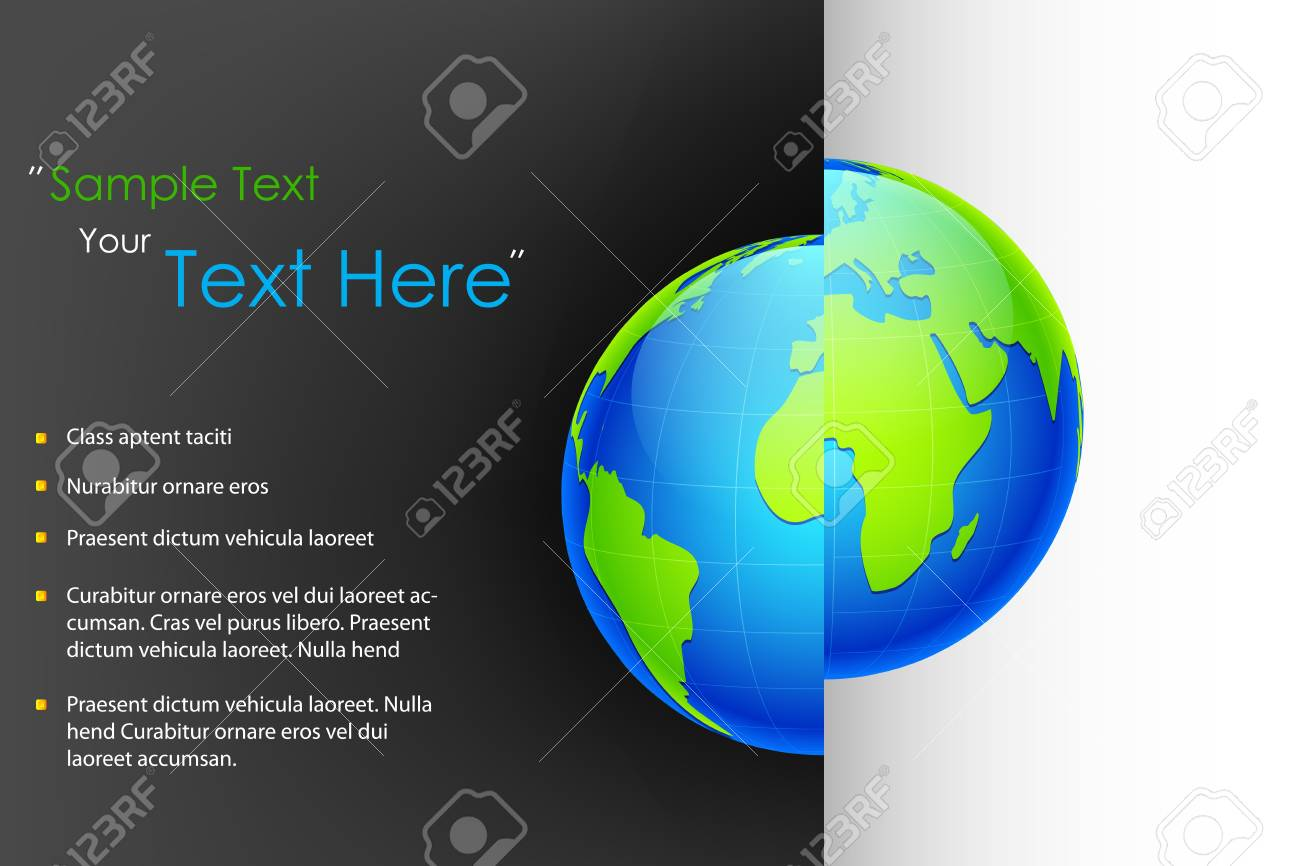 illustration of globe on abstract business background Stock Vector - 17806438