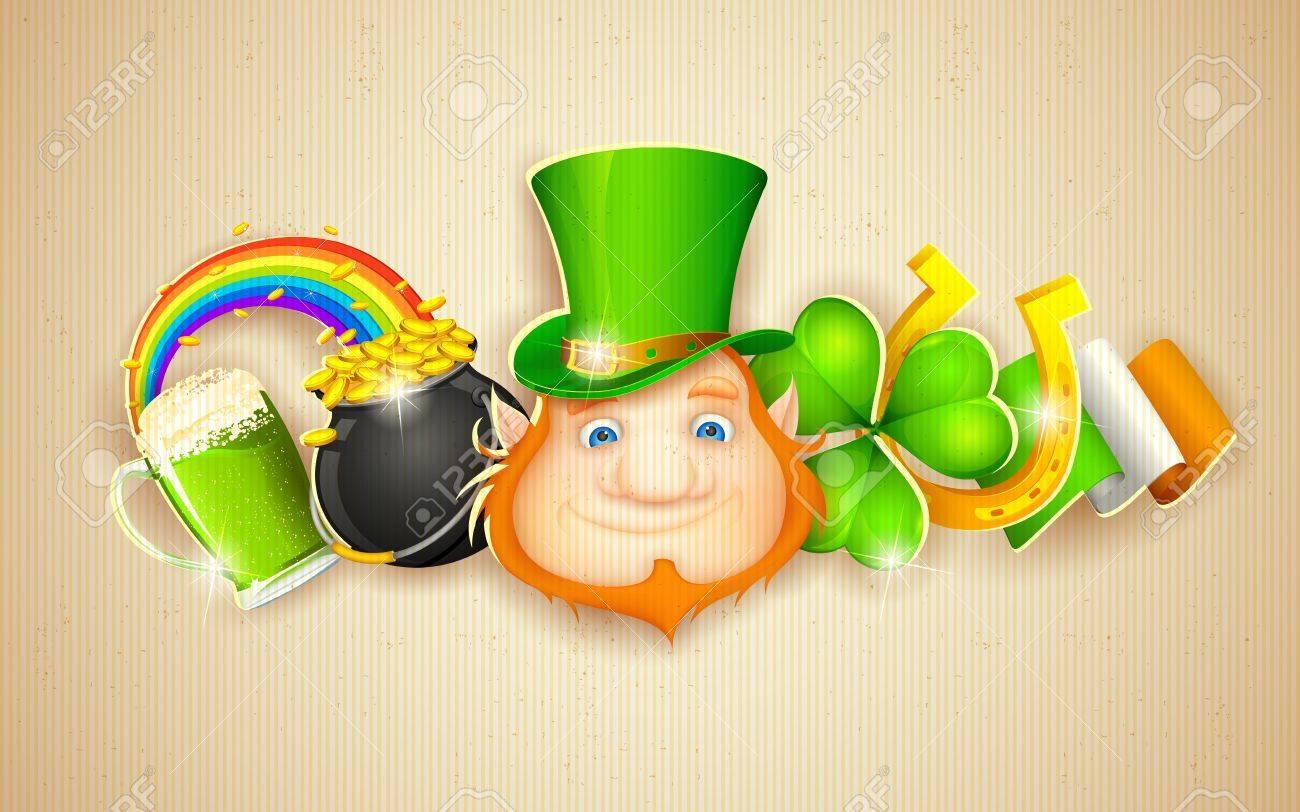 illustration of Saint Patrick s Day background Stock Vector - 18131919