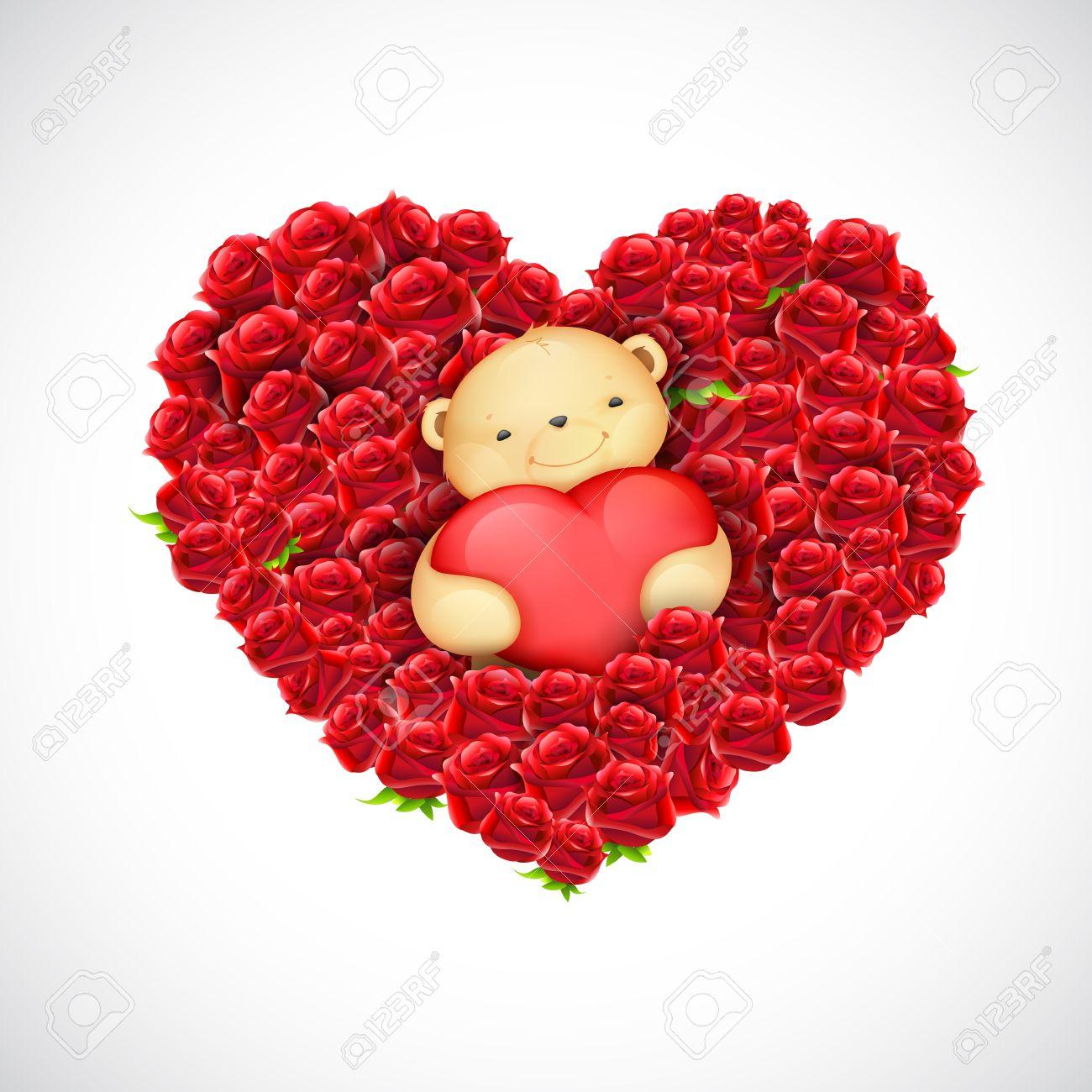 banque dimages illustration de nounours mignon couple de ballon ours coeur dtention - Ours Coeur
