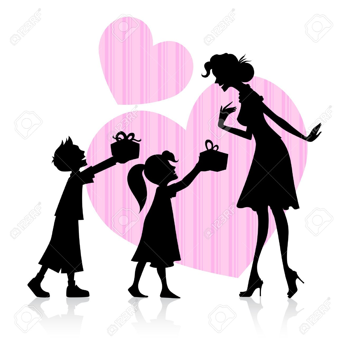 illustration of kids giving gift to mother on Mother s Day Stock Vector - 18960225