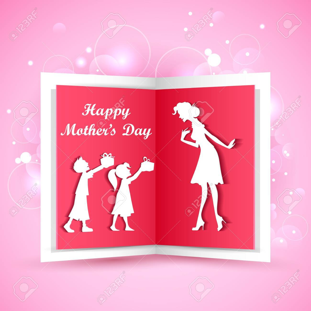 illustration of kids giving gift to mother on Mother s Day Stock Vector - 18960243