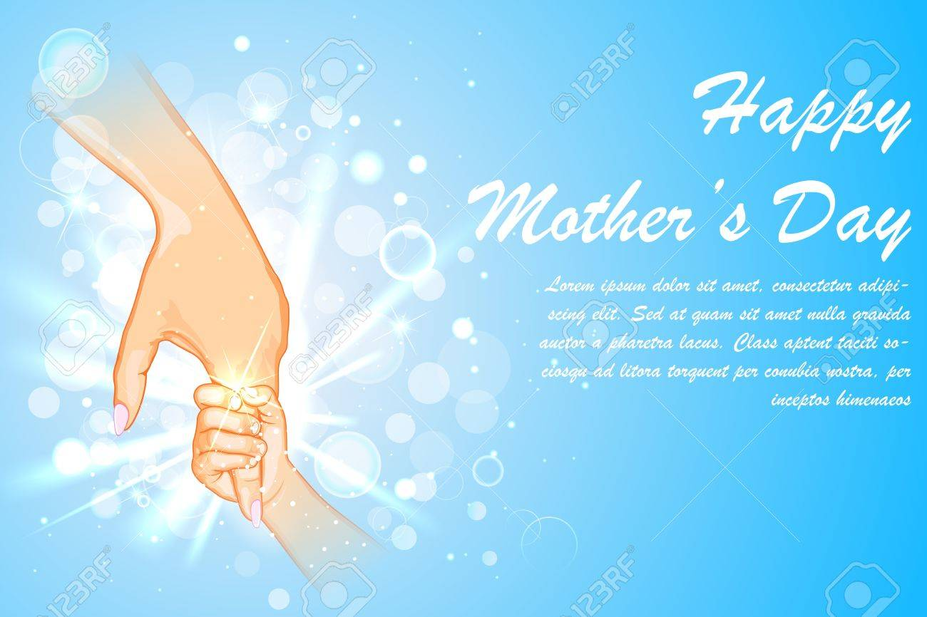 illustration of mother holding hand of child on Mother s Day Stock Vector - 18960245