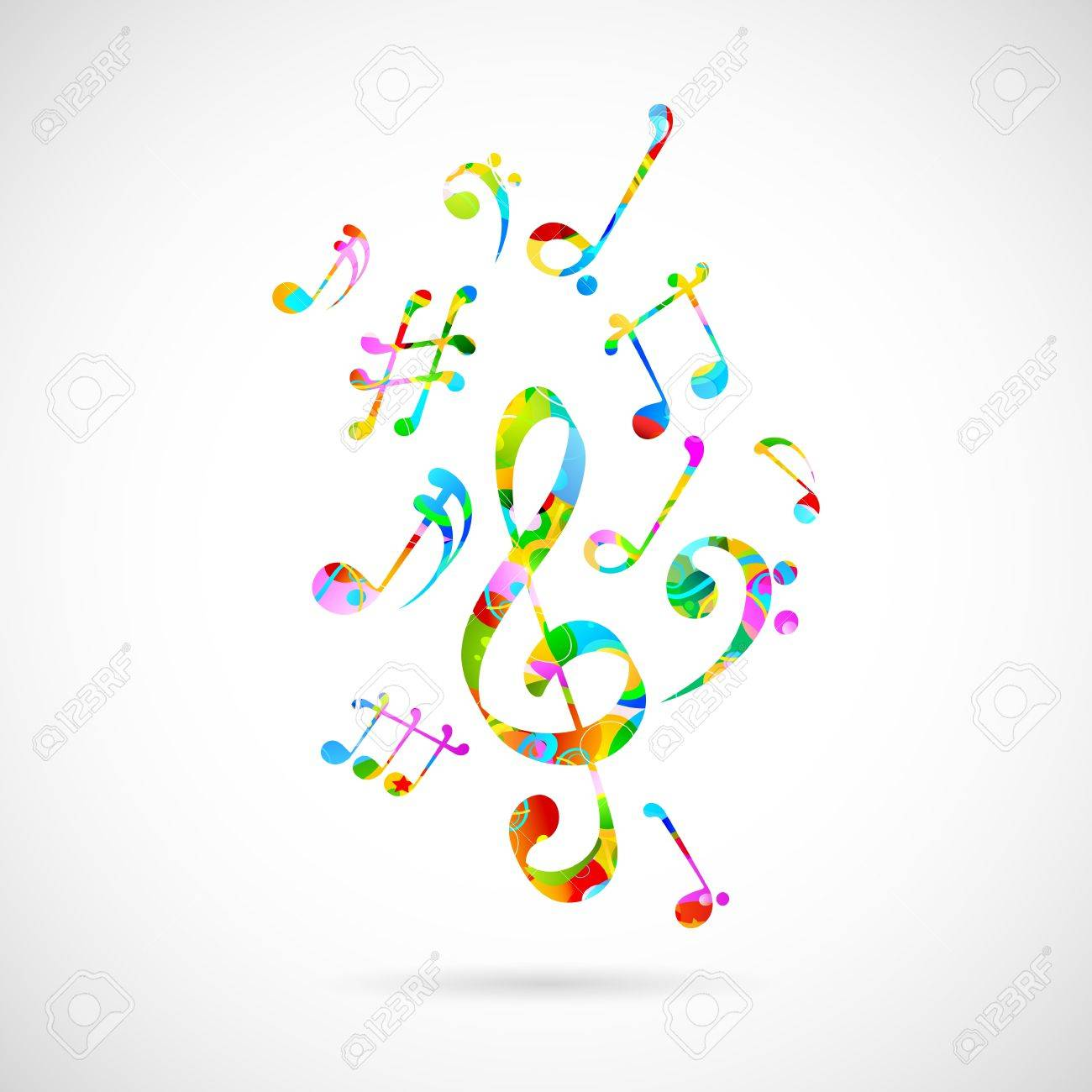illustration of abstract musical background with note Stock Vector - 19095620