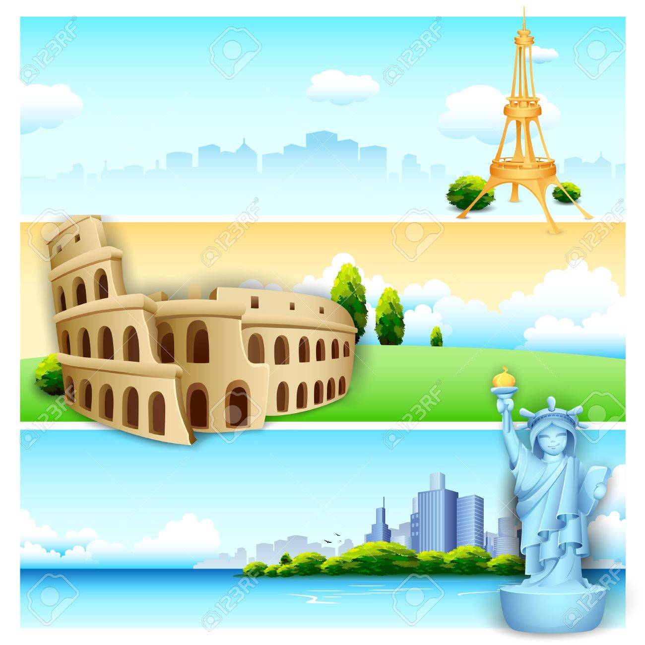 World Famous Clipart With World Famous Monument