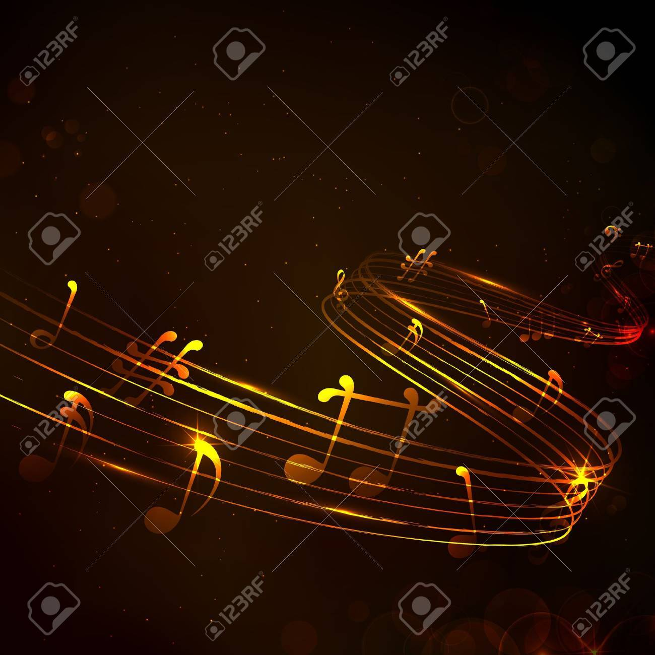 illustration of abstract music note for musical background Stock Vector - 19244887