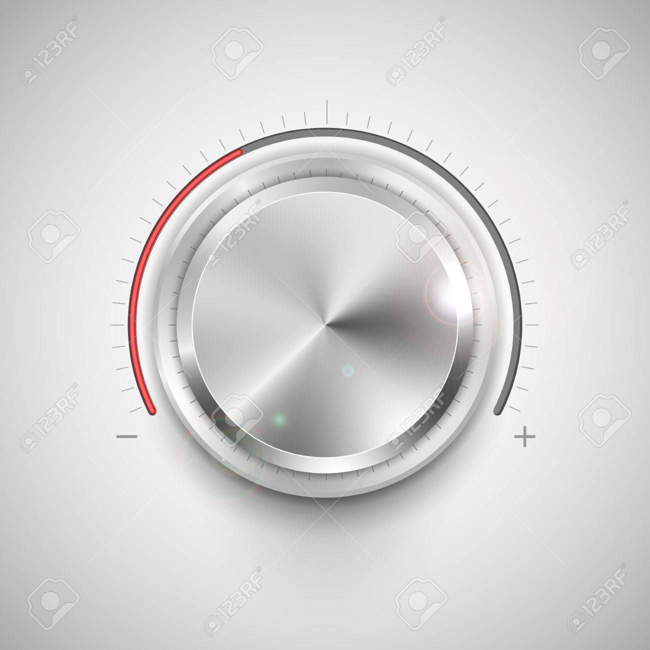 illustration of chrome knob for adjustment Stock Vector - 20335367