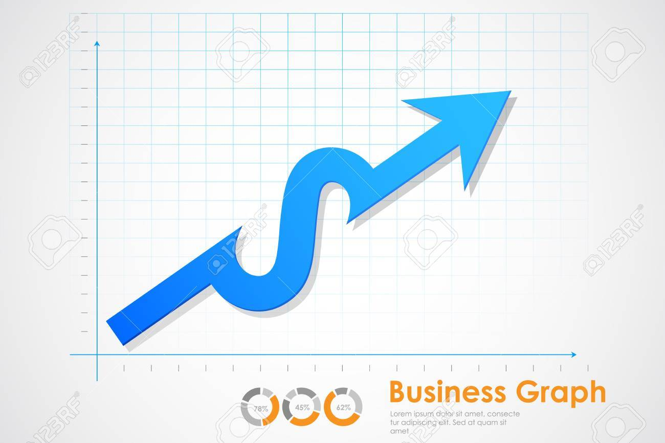 illustration of business profit graph making Dollar sign Stock Vector - 20922658