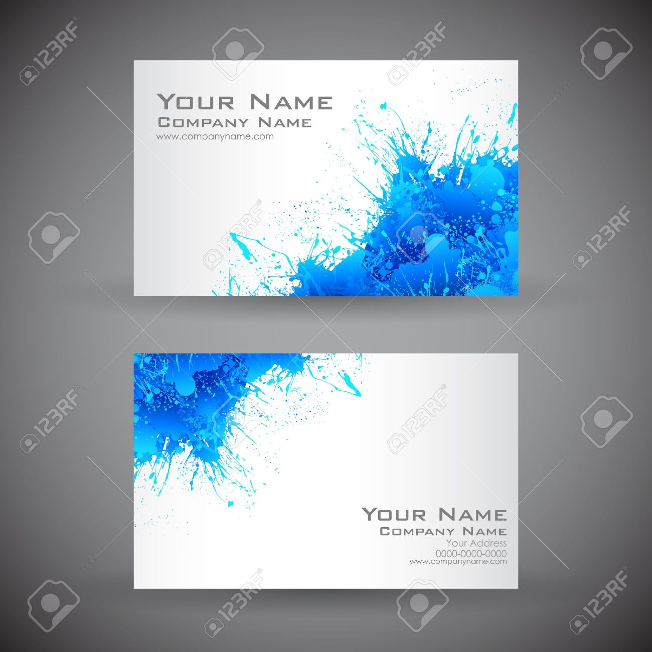 Illustration Of Front And Back Of Corporate Business Card Royalty ...