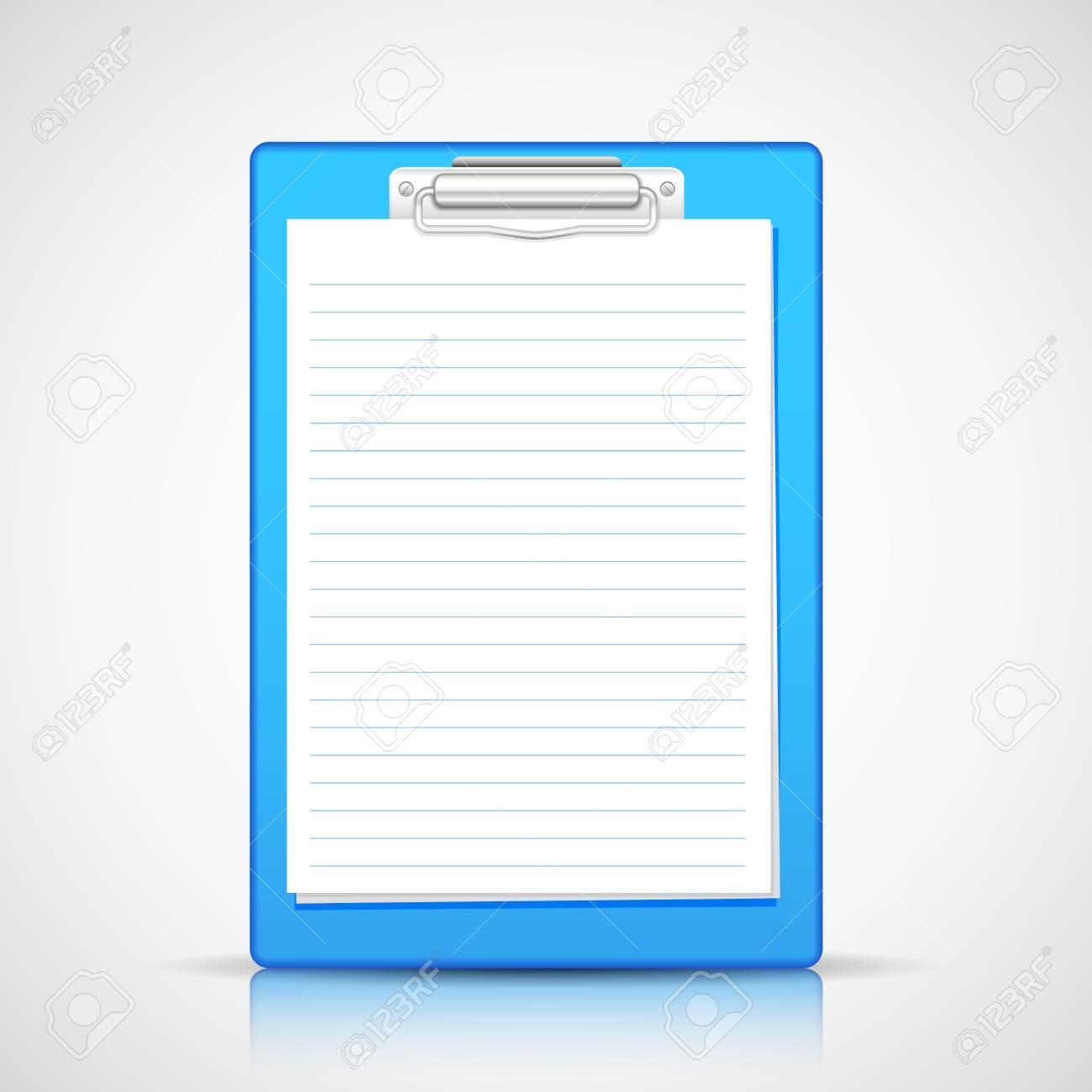 illustration of blank paper in clipboard Stock Illustration - 20922702