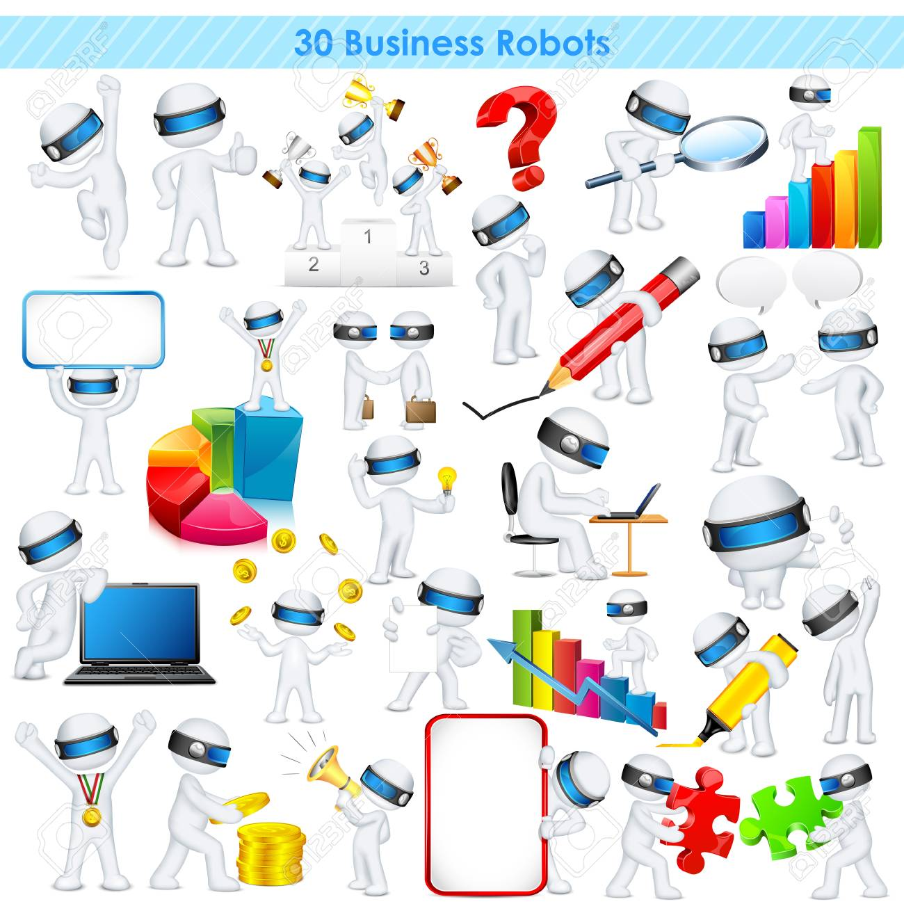 illustration of 3d business man in fully scalable vector Stock Illustration - 20922741