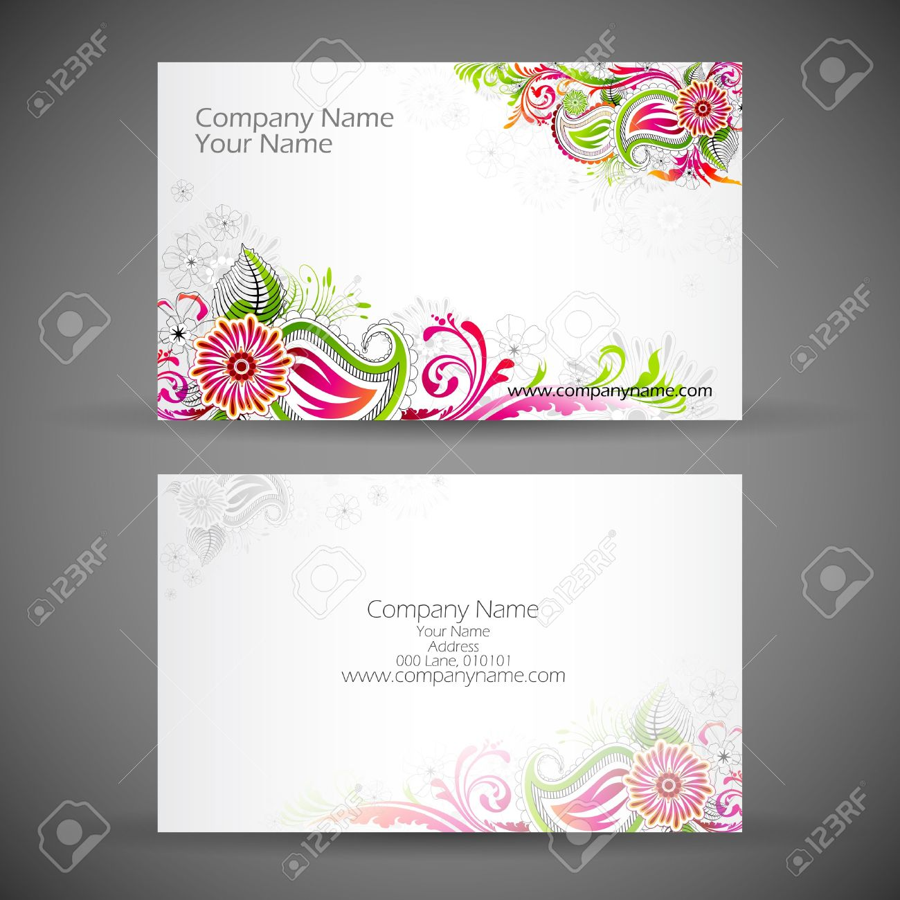 Front and back business card template word images templates front and back business card business resume marketing resume illustration of front and back of corporate magicingreecefo Images