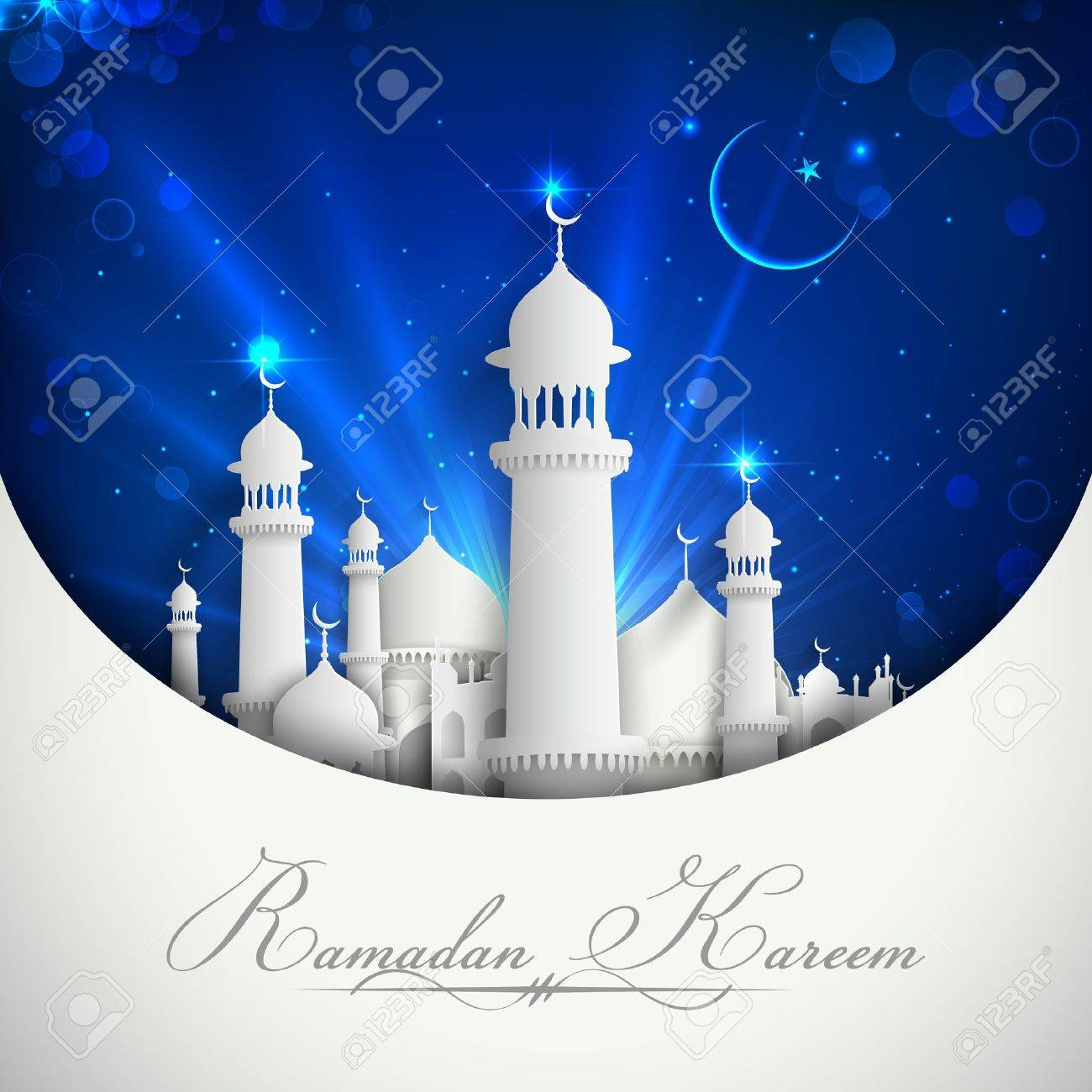 Mosque background for ramadan kareem stock photography image - Illustration Of Eid Mubarak Background With Mosque Stock Illustration 21016864