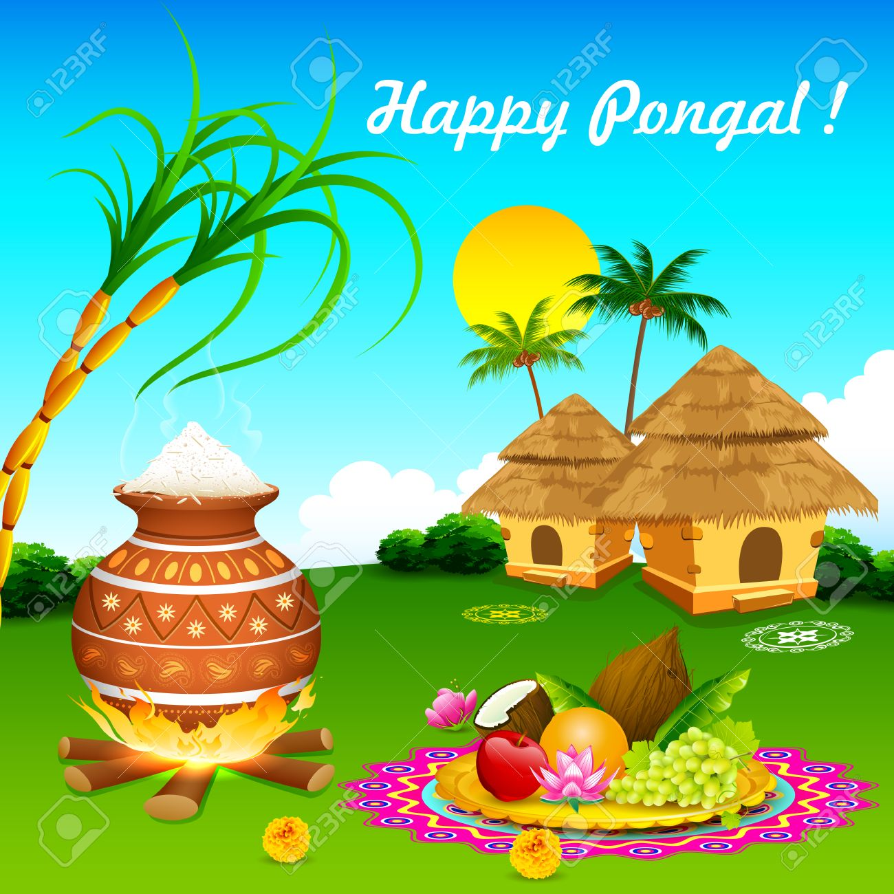 Illustration of happy pongal greeting background royalty free illustration of happy pongal greeting background stock vector 25749793 m4hsunfo