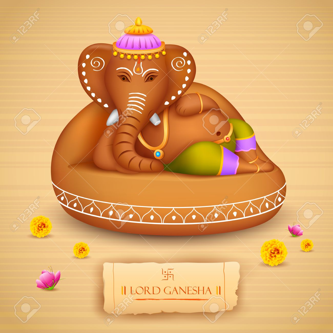 illustration of statue of lord ganesha made of clay ganesh chaturthi