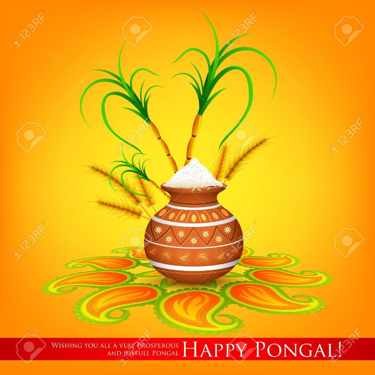 Illustration of happy pongal greeting background royalty free illustration of happy pongal greeting background stock vector 25731064 kristyandbryce Images