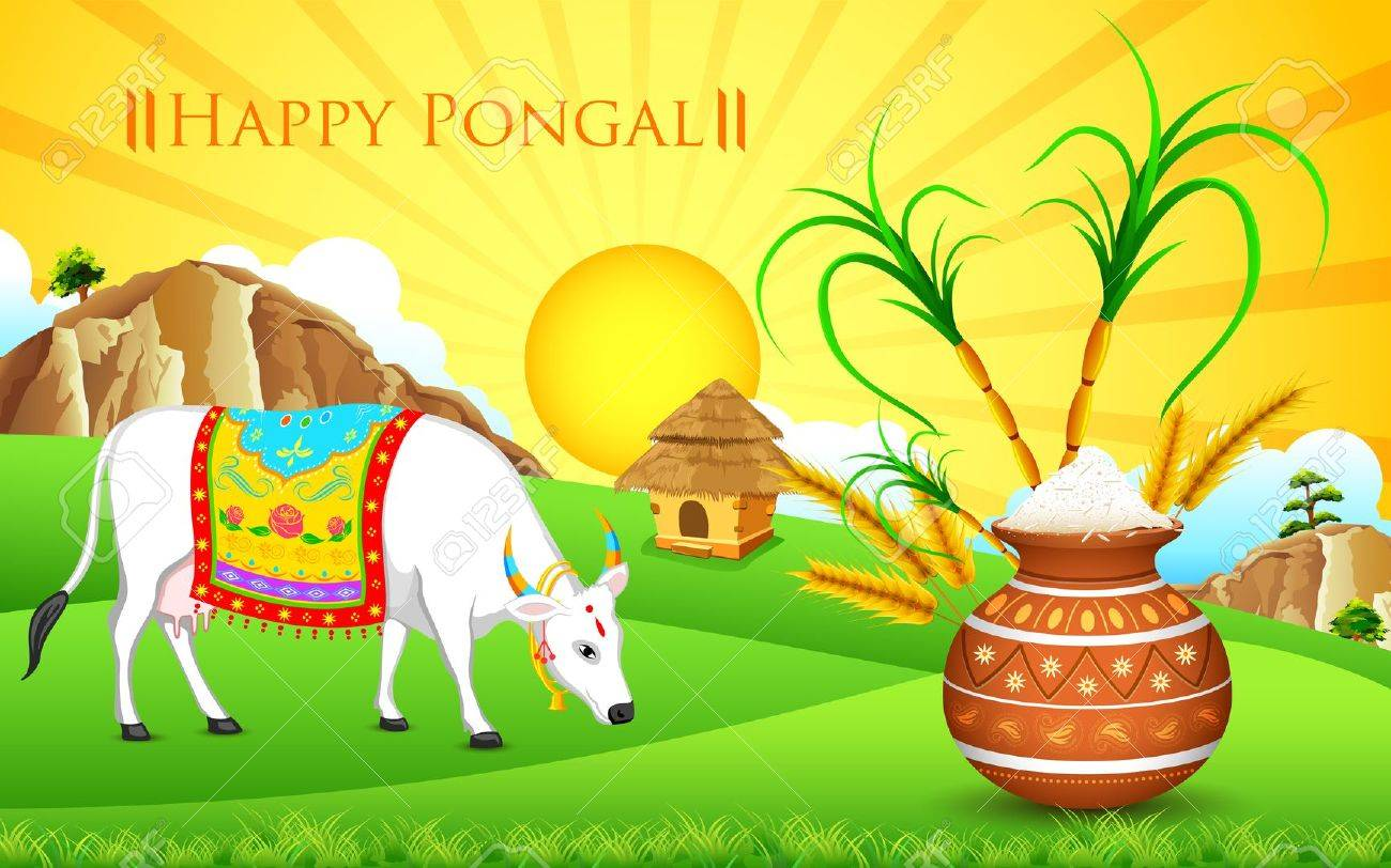Illustration of happy pongal greeting background royalty free illustration of happy pongal greeting background stock vector 25731106 m4hsunfo