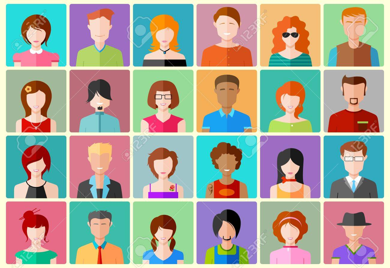design people Illustration Of Colorful Flat Design People Icon Royalty Free  design people