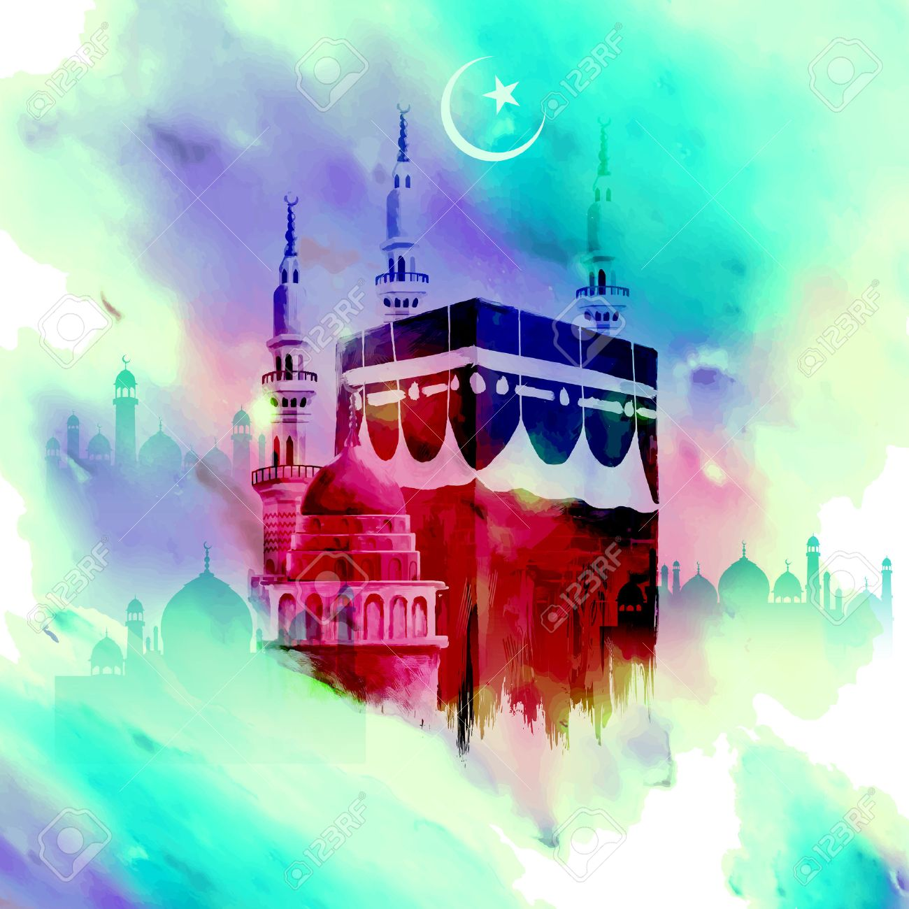 Great Wallpaper Name Nasir - 40919505-illustration-of-eid-mubarak-happy-eid-background-with-kaaba  Perfect Image Reference_488548.jpg