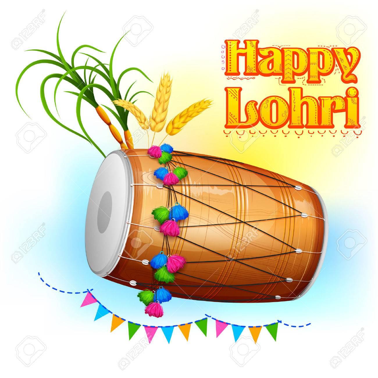 illustration of Happy Lohri background for Punjabi festival - 50223527