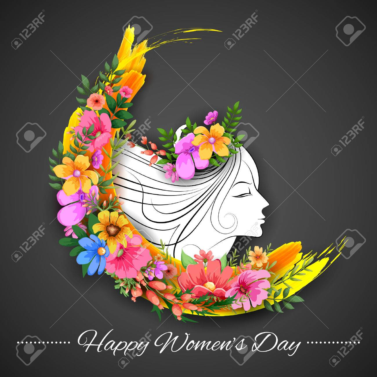 Illustration of happy womens day greetings background royalty free illustration of happy womens day greetings background stock vector 53411934 kristyandbryce Gallery