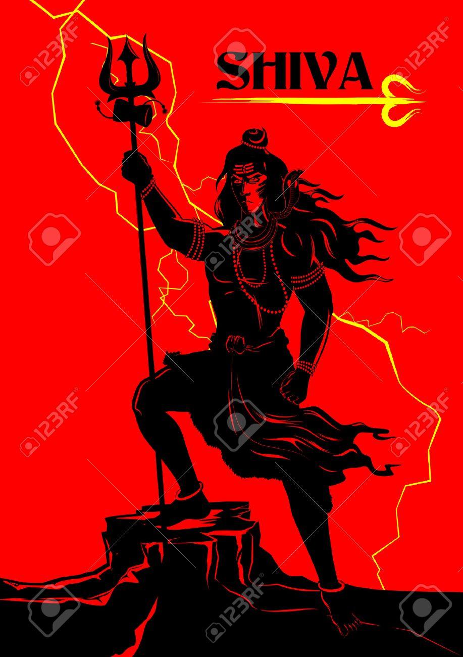 Lord shiva trishul picture - Trishul Illustration Of Lord Shiva Indian God Of Hindu Illustration