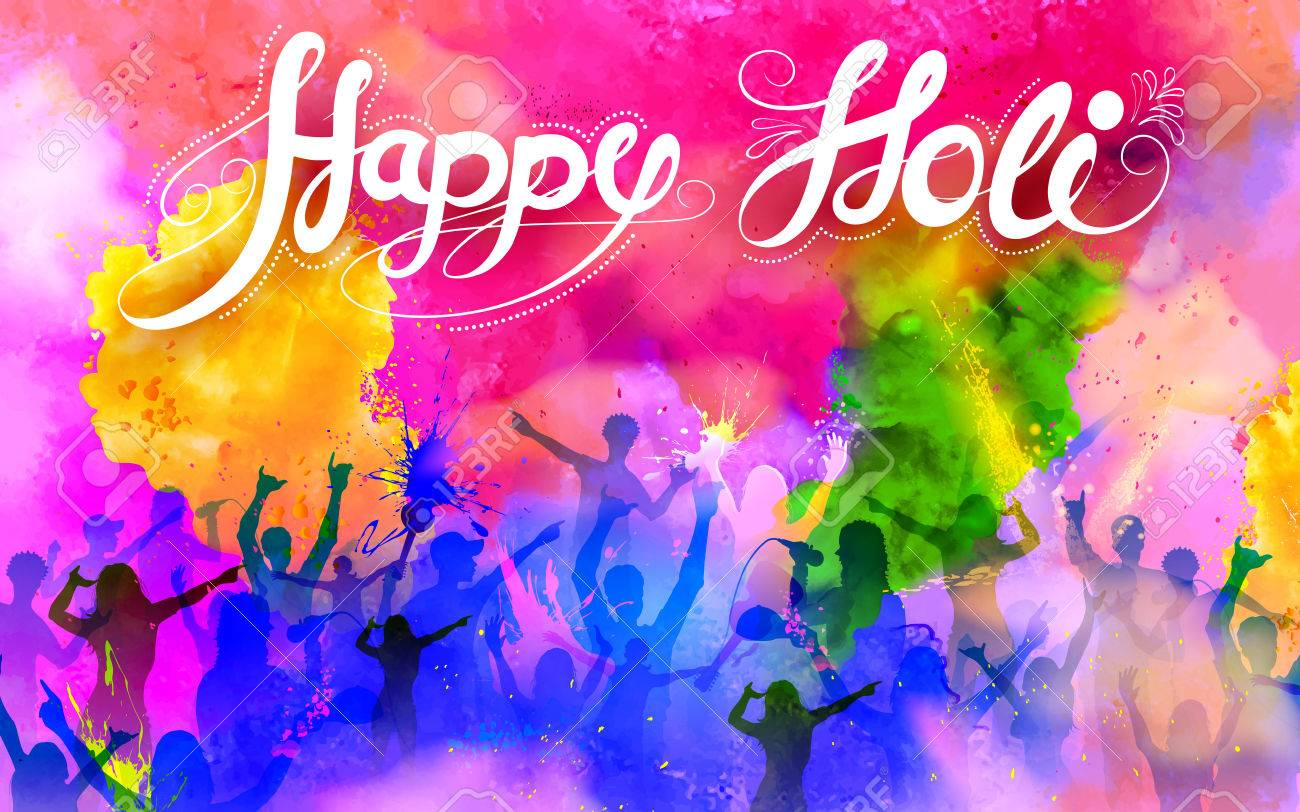 illustration of DJ party banner for Holi celebration Stock Vector - 53412170
