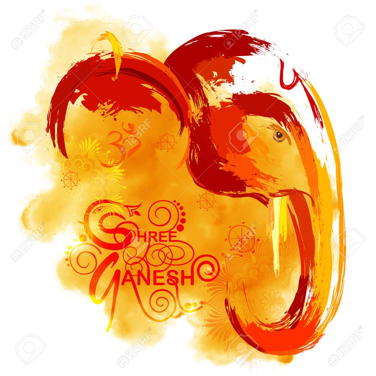 Ganesh images stock pictures royalty free ganesh photos and illustration of lord ganapati background for ganesh chaturthi in paint style illustration buycottarizona
