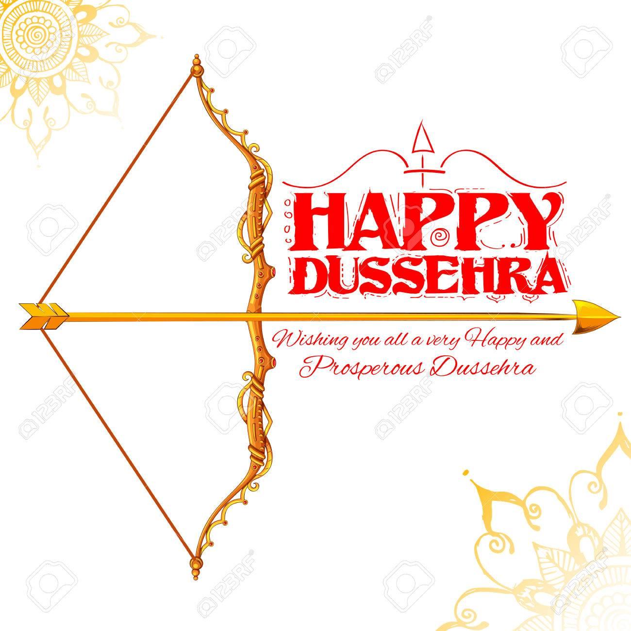 インドの背景の幸せこれ Dussehra 祭り弓矢のイラストのイラスト素材