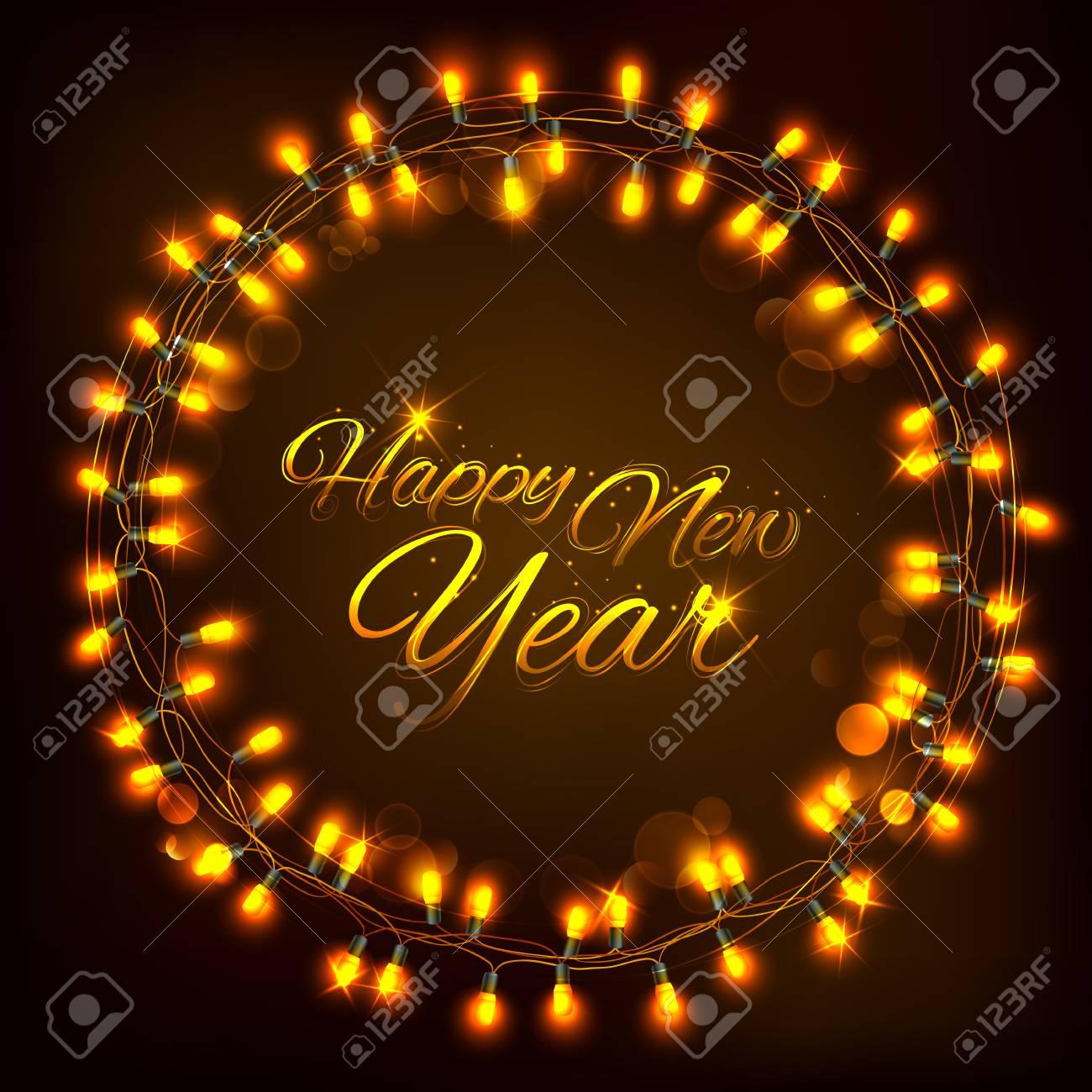 Illustration of happy new year celebration abstract seasons illustration of happy new year celebration abstract seasons greetings background with light garland stock vector m4hsunfo