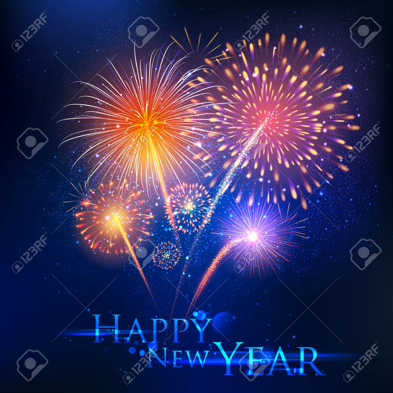 Illustration of happy new year celebration abstract starburst illustration of happy new year celebration abstract starburst seasons greetings background with firework stock vector m4hsunfo