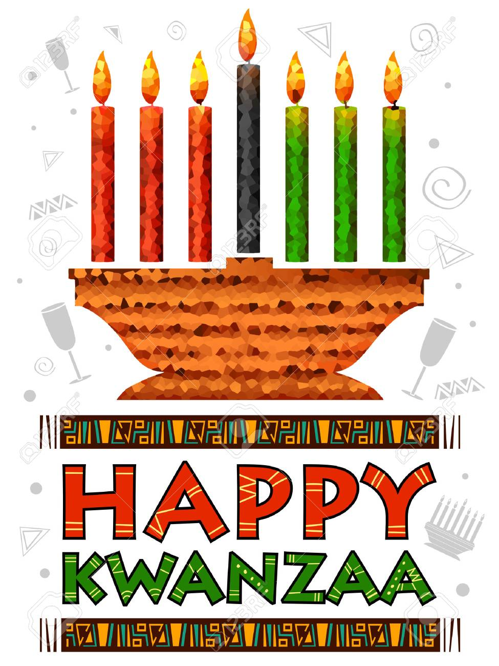 illustration of Happy Kwanzaa greetings for celetion of African.. on map of sociology, map of home, map of thanksgiving, map of valentine's day, map of food, map of africa, map of geography, map of martin luther king, map of dongzhi festival, map of halloween, map of boxing day, map of spring, map of art, map of christmas around the world, map of three kings day, map of hanukkah, map of holi, map of mischief night, map of easter, map of holiday,