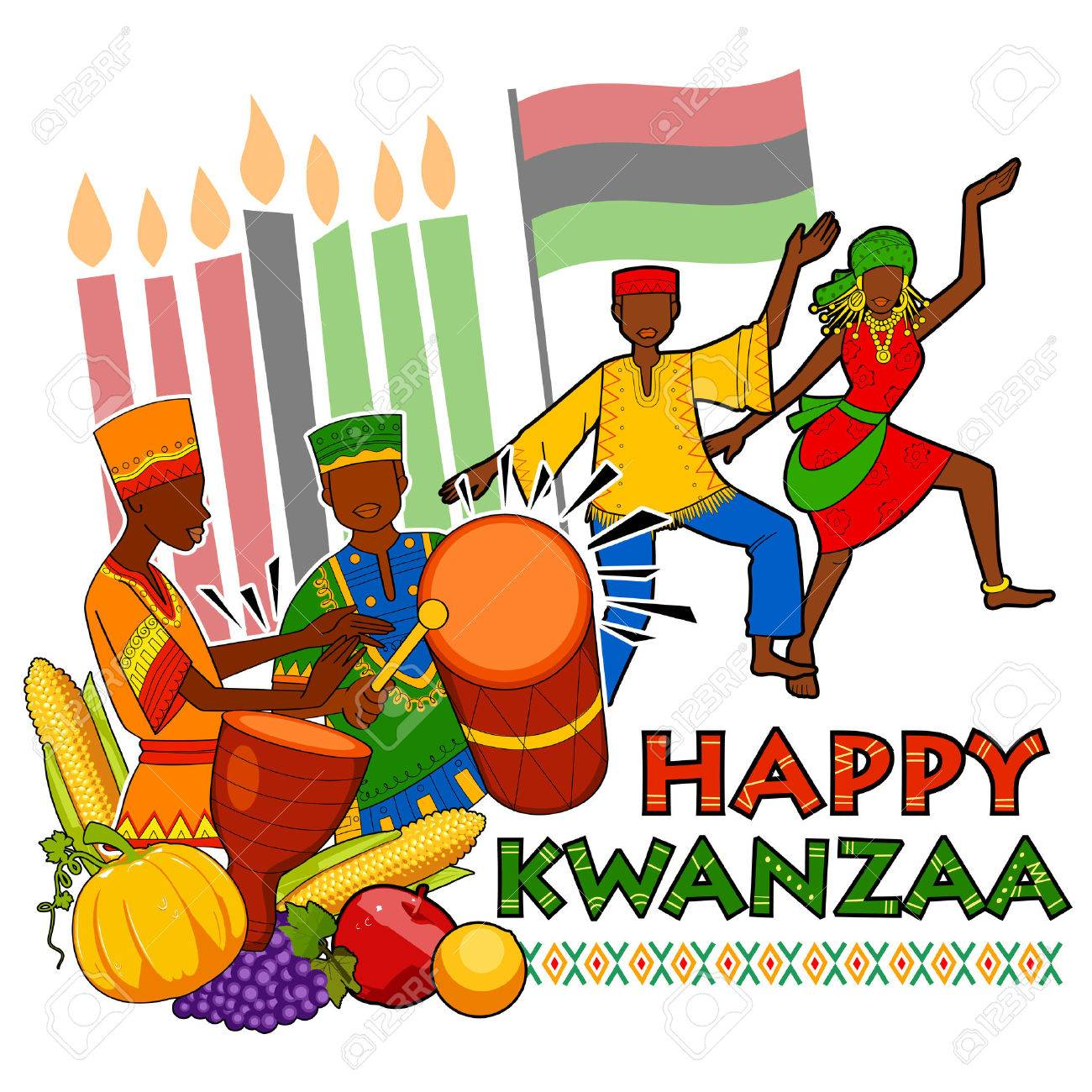 Illustration of happy kwanzaa greetings for celebration of african illustration of happy kwanzaa greetings for celebration of african american holiday festival of harvest stock vector kristyandbryce Images