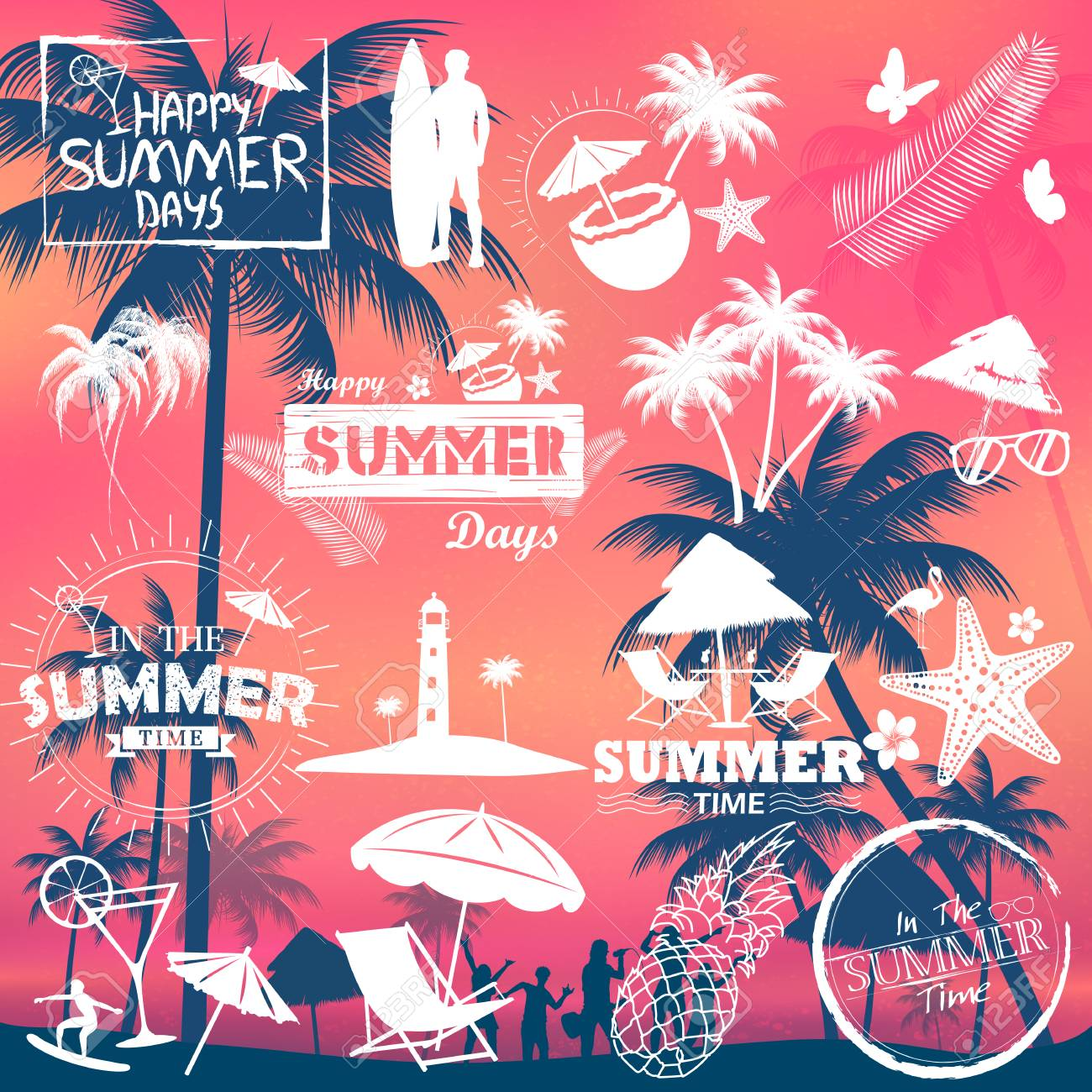Summer Time Poster Wallpaper For Fun Party Invitation Banner ...