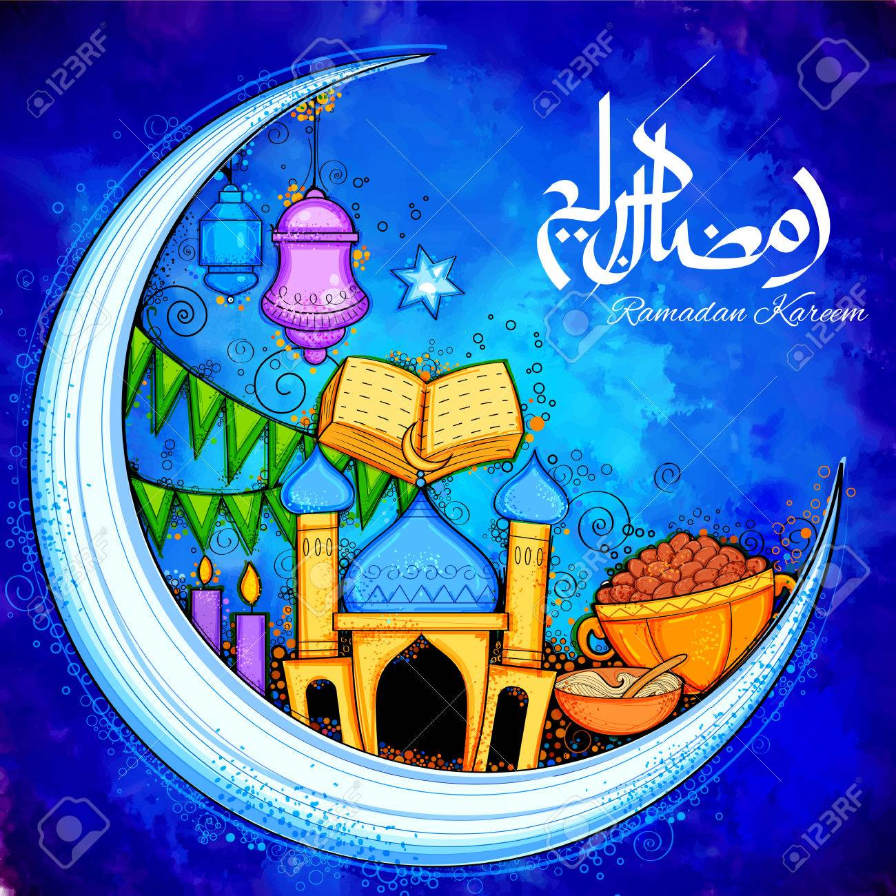Eid Mubarak Happy Eid Background For Islam Religious Festival Royalty Free Cliparts Vectors And Stock Illustration Image 78256608
