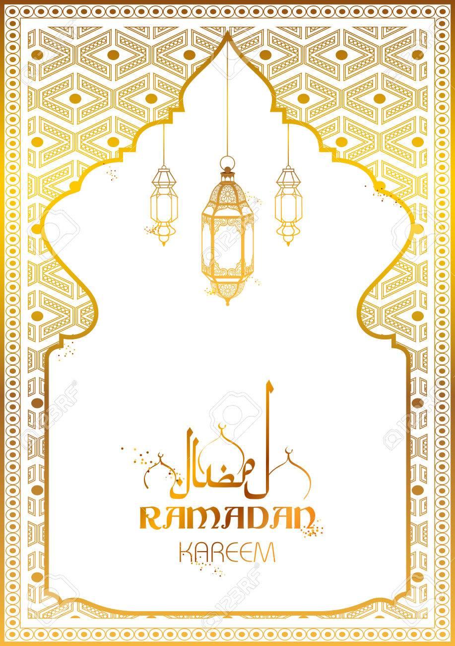 Ramadan kareem generous ramadan greetings for islam religious ramadan kareem generous ramadan greetings for islam religious festival eid with illuminated lamp stock vector kristyandbryce Images