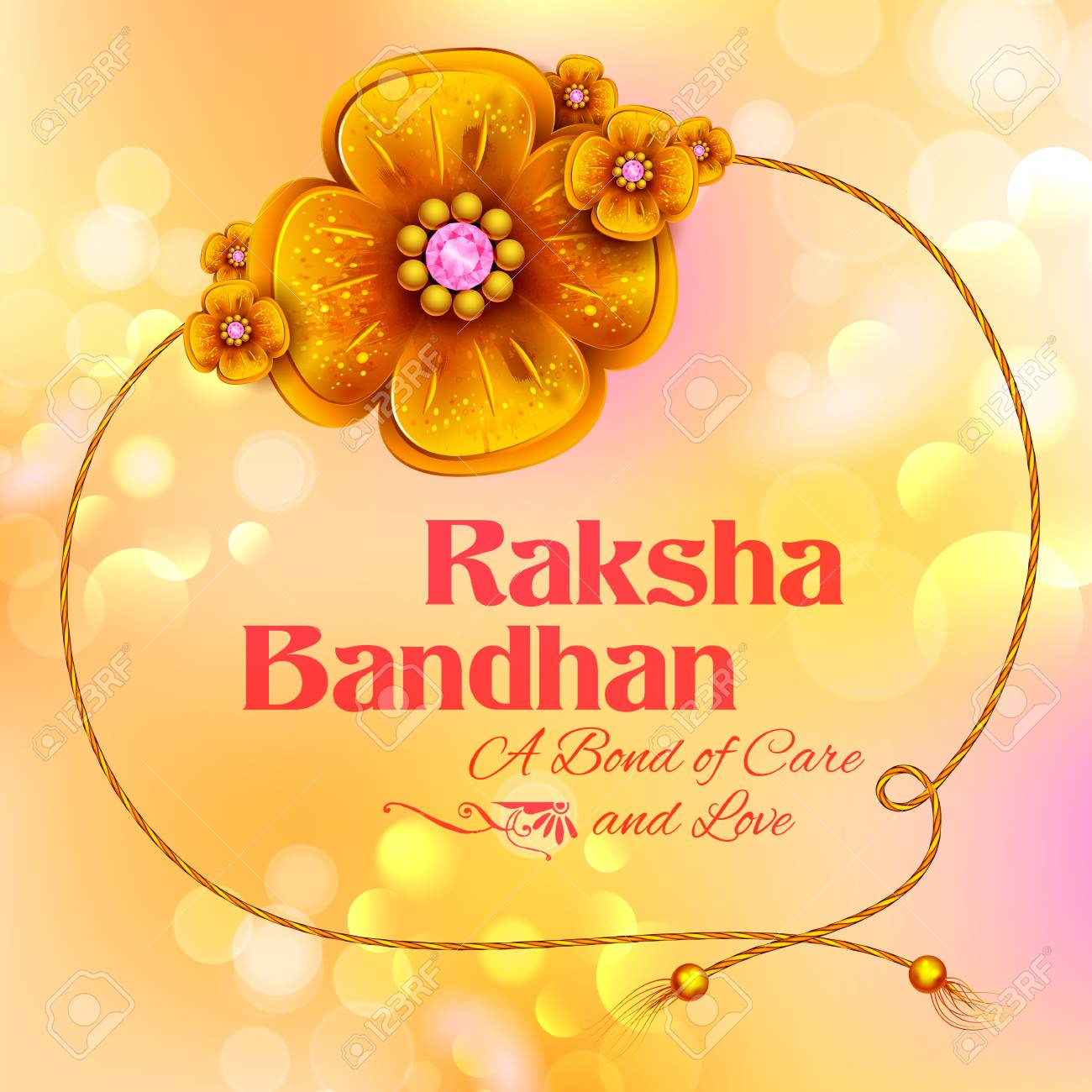 Greeting card with decorative rakhi for raksha bandhan background greeting card with decorative rakhi for raksha bandhan background stock vector 81502640 m4hsunfo