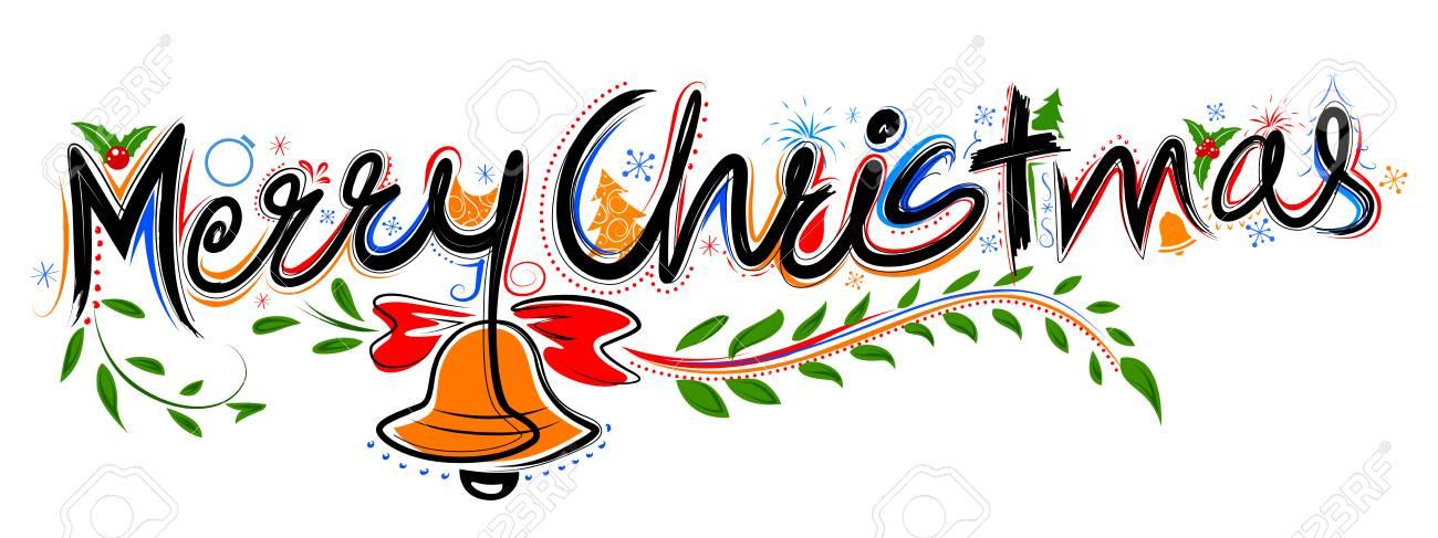 Frohe Weihnachten Schriftzug Design Set Typografie Stil Gruß ...