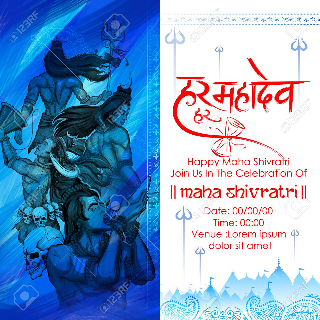 Illustration of lord shiva indian god of hindu for shivratri illustration of lord shiva indian god of hindu for shivratri with message hara hara mahadev biocorpaavc Image collections
