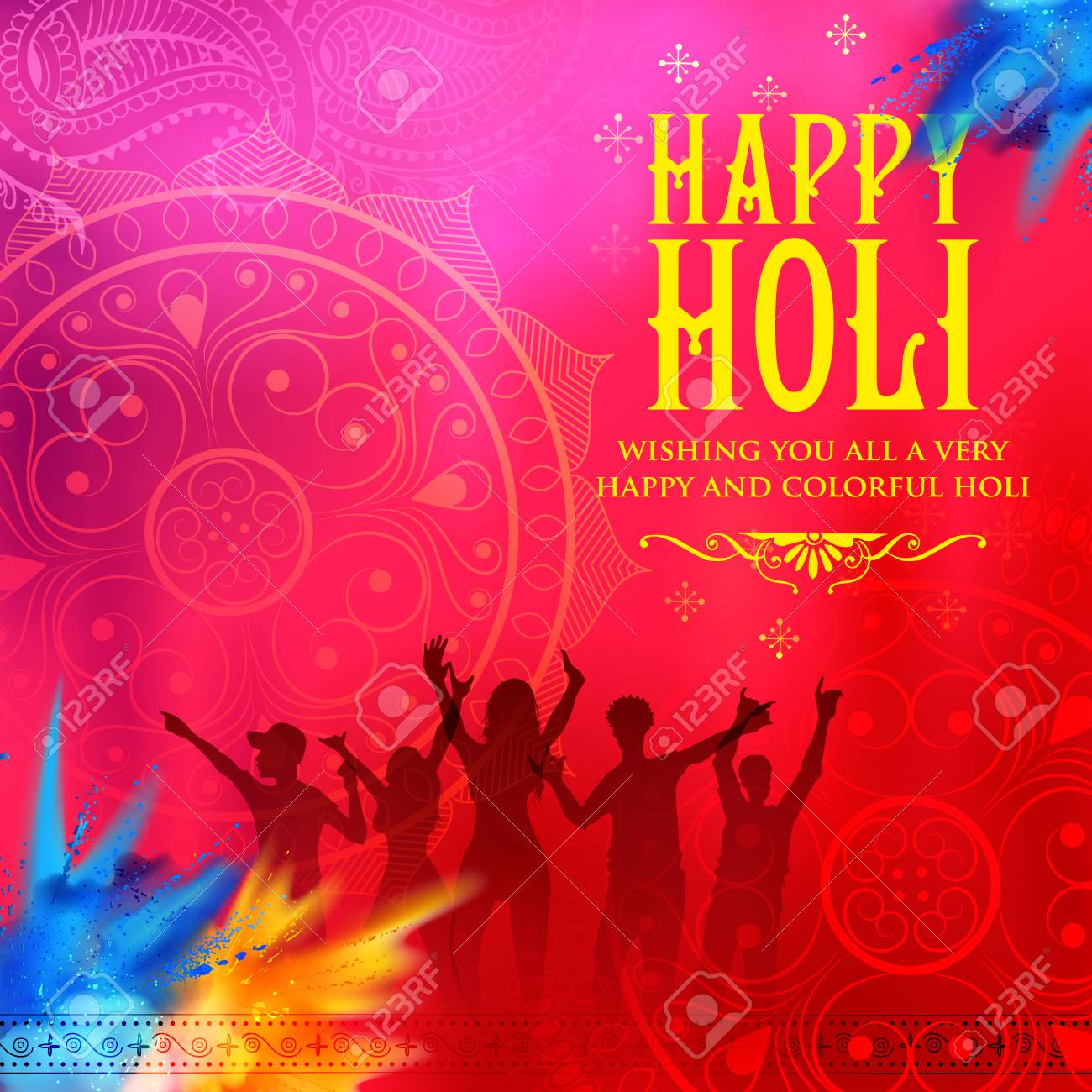 Happy holi background for festival of colors celebration greetings happy holi background for festival of colors celebration greetings stock vector 95883771 kristyandbryce Image collections