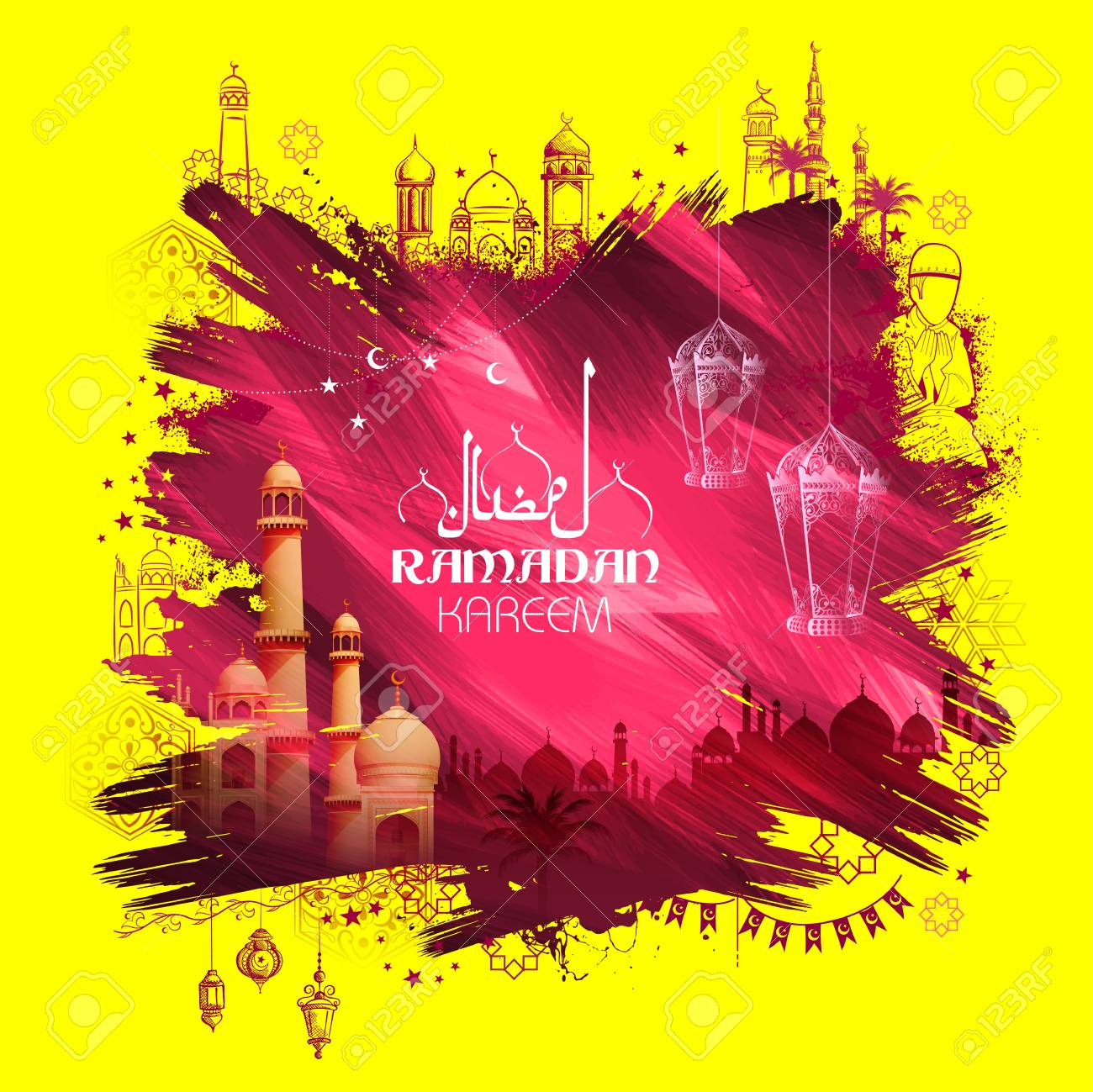 Illustration Of Ramadan Kareem Generous Ramadan Greetings For