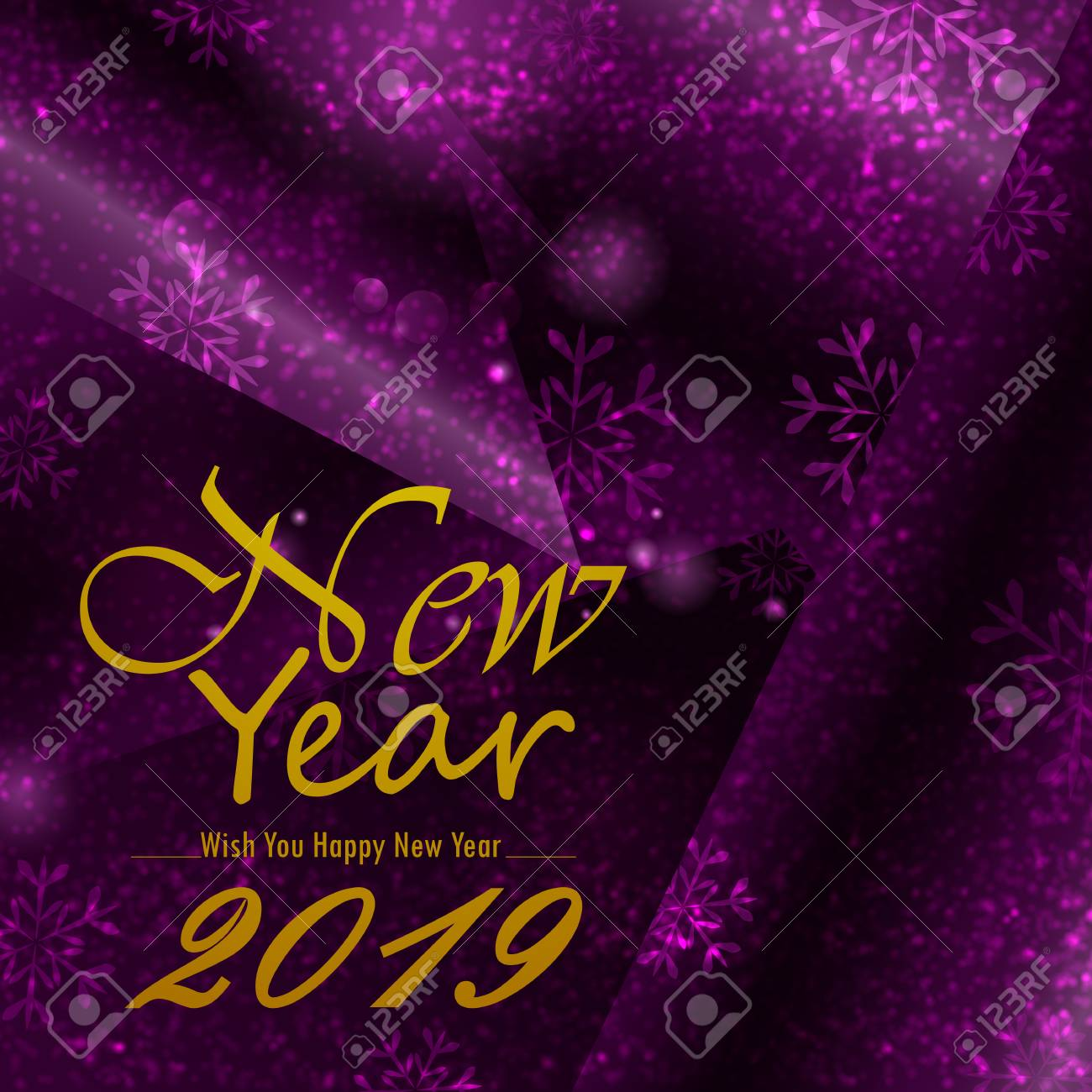 happy new year 2019 wishes greeting card template background design stock vector 112303929