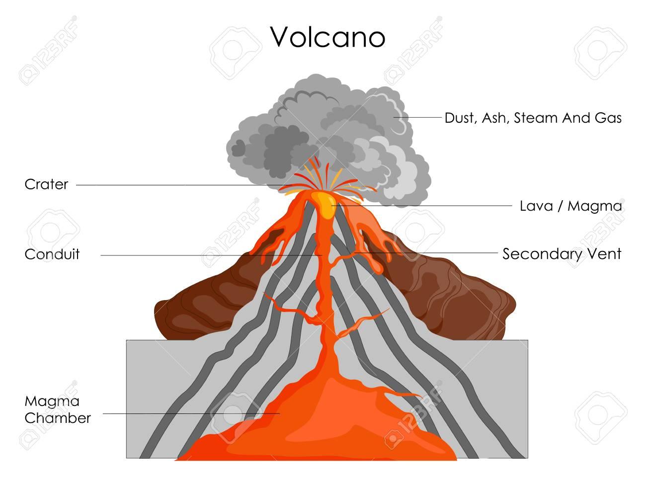 Diagram Of A Volcano Data Wiring Diagram Blog