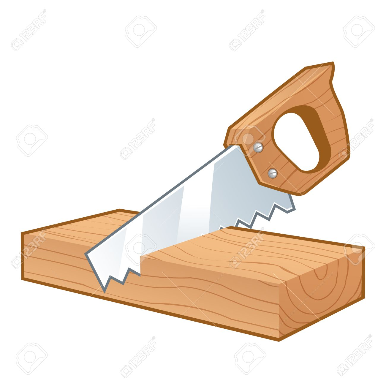 saw cutting a piece of wood isolated on white royalty free cliparts rh 123rf com vector wood grain free vector wood floor