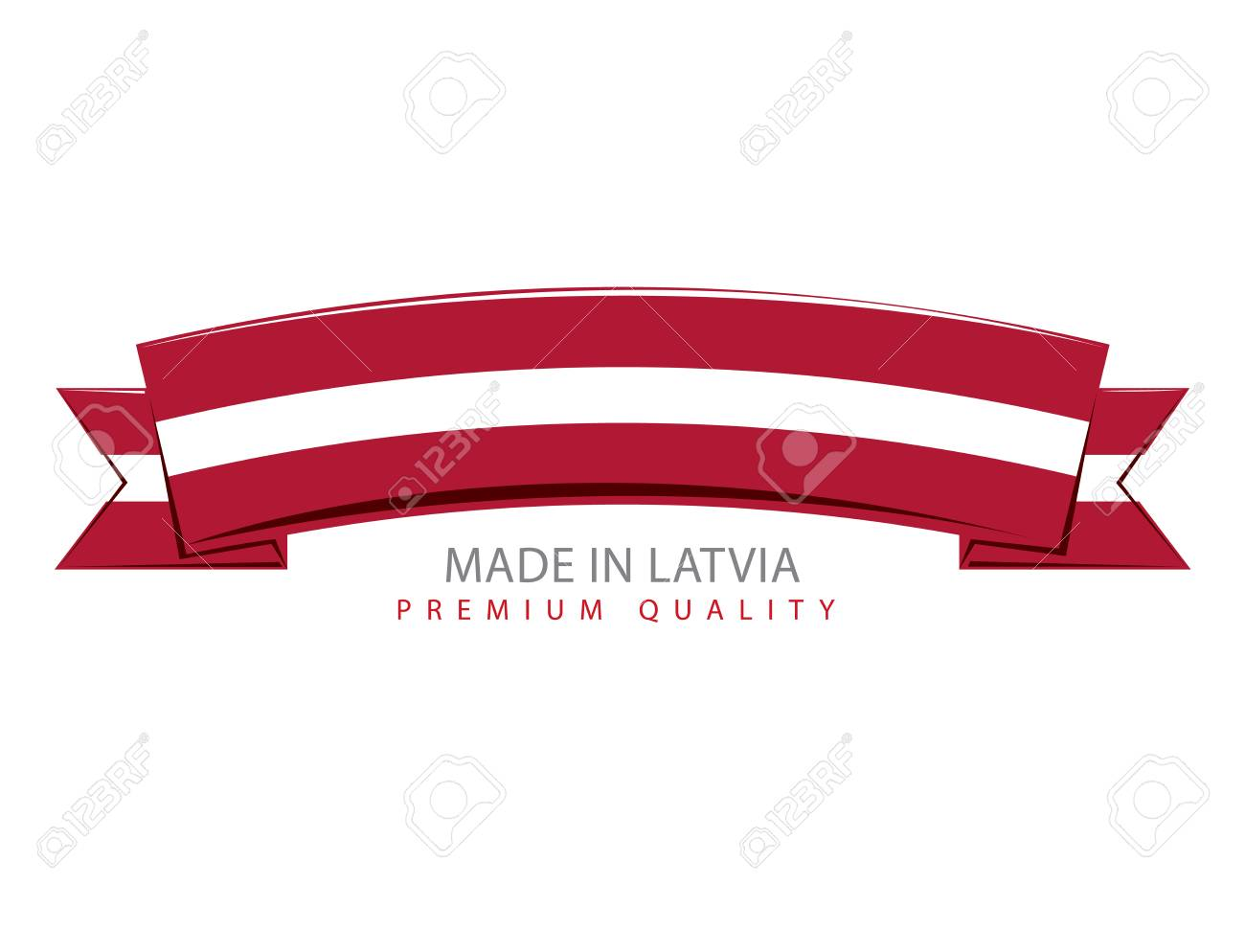 made in latvia ribbon latvian flag vector art royalty free rh 123rf com ribbon vector art free download ribbon vector art free download
