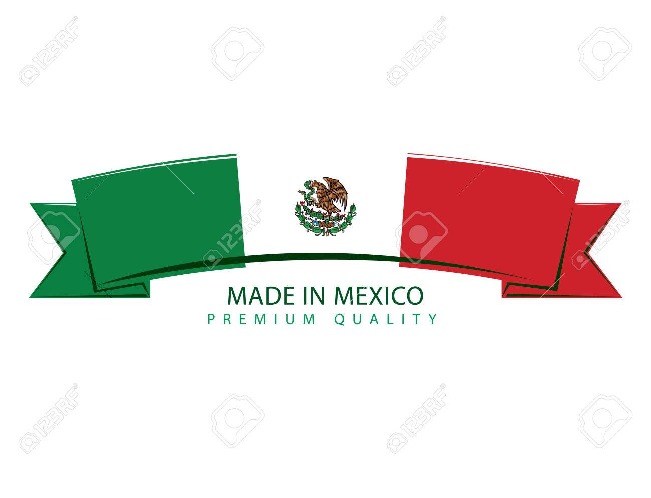 made in mexico ribbon mexican flag vector art royalty free rh 123rf com mexico flag vector free download mexico flag eagle vector