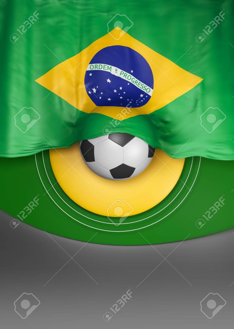 3d abstract brazil flag brazilian colors 3d render stock photo