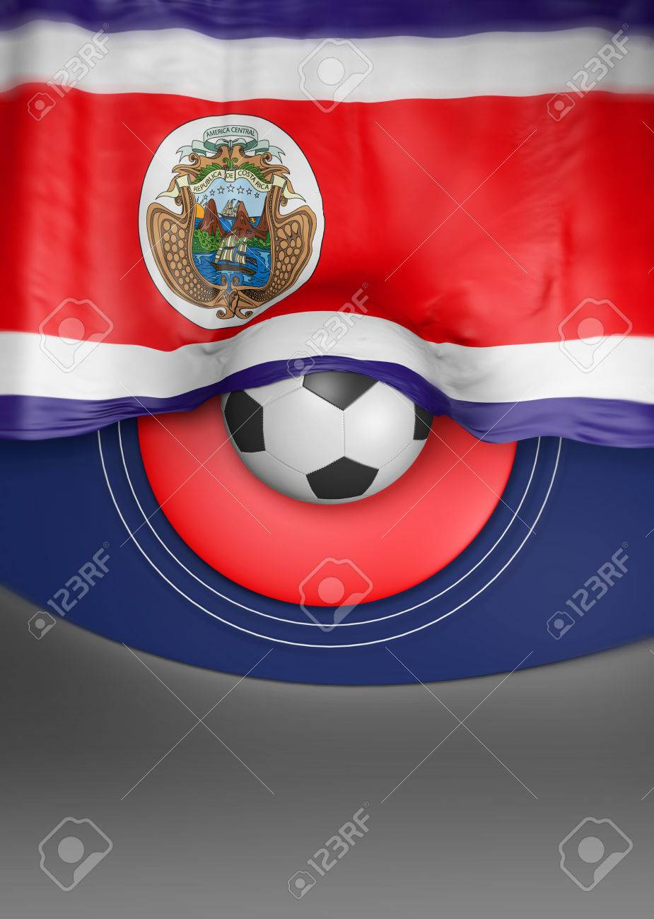 flag costa rica render costa rican flag 3d render stock photo