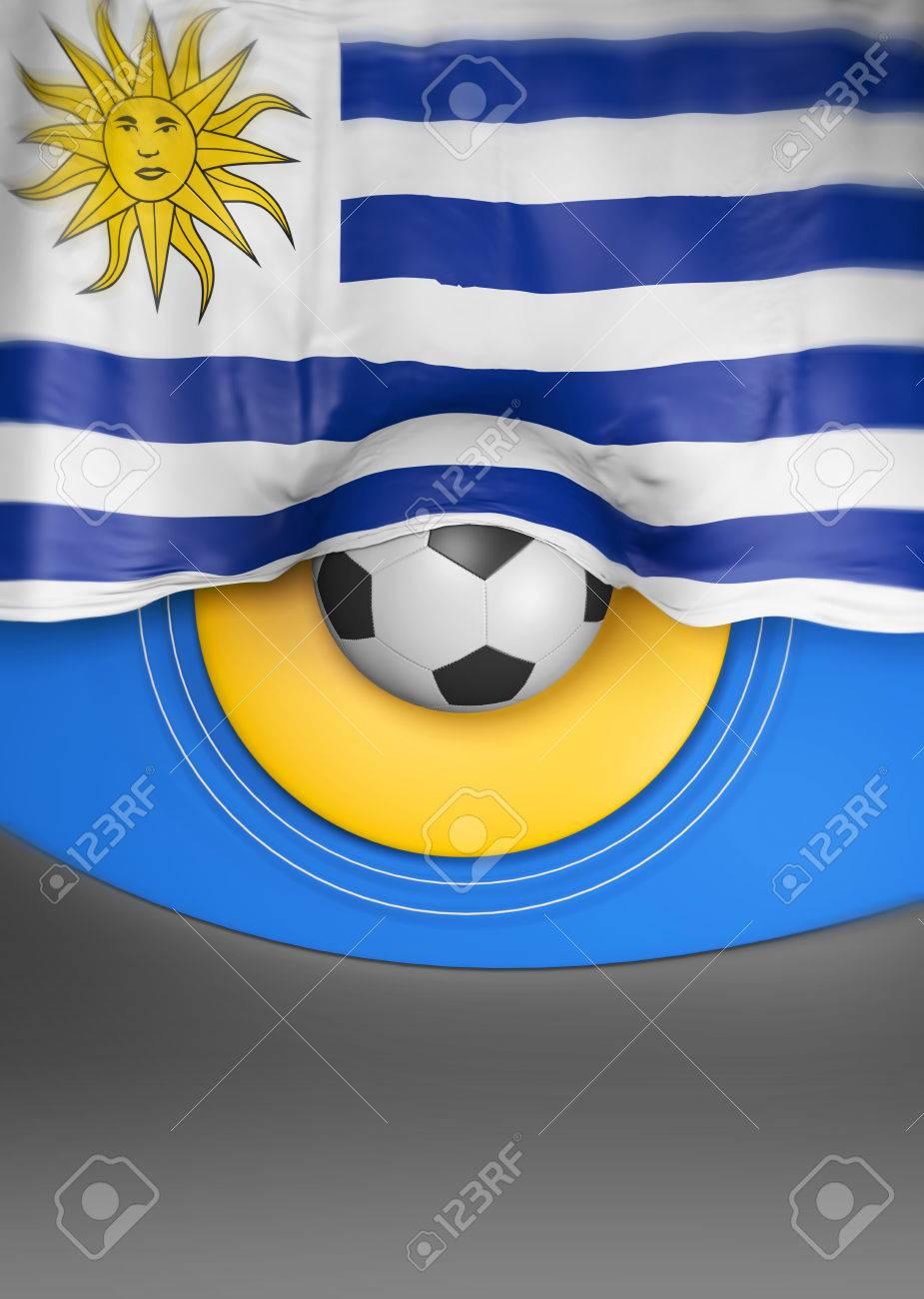 Flag Uruguayan Colors Uruguay Flag D Render Stock Photo - Uruguay flag